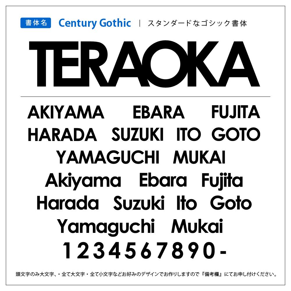 表札 ステンレス 書体 Century Gothic